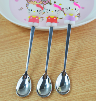 Spoon Set / fork chopsticks Chinese Mainland Metal Kitty Pink Kitty rose Kitty purple Kitty blue robot cat