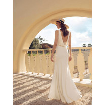 Dress Summer 2020 white Xs, s, m, l, customized plus 120 yuan longuette singleton  Sleeveless street V-neck middle-waisted Solid color Big swing Others 25-29 years old Type A backless Silk and satin polyester fiber Europe and America
