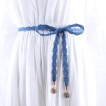 Belt / belt / chain other female belt Versatile Single loop Flower design soft surface 1.3cm