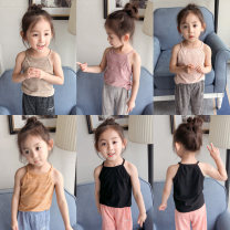 Vest sling Sleeveless summer Other / other neutral There are models in the real shooting leisure time Solid color Lapel crew neck nothing other 12 months, 18 months, 2 years old, 3 years old, 4 years old, 5 years old