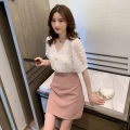 Women's large Summer 2020, summer 2021 White top + pink skirt, green top + green skirt Large L, large XL, large XXL, s, M 81% (inclusive) - 90% (inclusive)