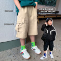 trousers A Xiaoxuan male 90cm, 100cm, 110cm, 130cm, 140cm, 150cm, 120 (model size) Khaki personality crotch pants, black personality crotch pants summer trousers leisure time There are models in the real shooting Big PP pants Leather belt middle-waisted other Don't open the crotch Chinese Mainland