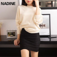 skirt Autumn of 2019 155/60A,160/64A,165/68A,170/72A,175/76A,175/80A Black, camel Short skirt sexy Natural waist skirt stripe Type H 25-29 years old 91% (inclusive) - 95% (inclusive) other NADINE other