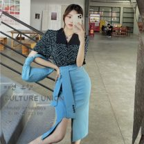 Fashion suit Summer 2021 M. L, average size Shirt, skirt 18-25 years old