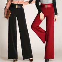 Casual pants S902 black, S902 camel, S902 green, S902 jujube, S902 red 27 [2 foot waist], 28 [2 foot 1 waist], 29 [2 foot 2 waist], 30 [2 foot 3 waist], 31 [2 foot 4 waist], 32 [2 foot 5 waist], 33 [2 foot 6 waist], 34 [2 foot 7 waist] Spring 2020 trousers Wide leg pants High waist commute routine