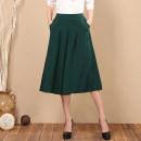 Casual pants Dark green, red, black, gray, off white XL (1'8-2'2), 2XL (2'2-2'4), 3XL (2-4-2'6), 4XL (2'6-9) Summer 2020 Pant Wide leg pants High waist Versatile Thin money 30-34 years old cotton pocket
