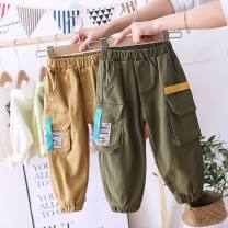 trousers Other / other male 90cm,100cm,110cm,120cm,130cm Army green_ 19168 ribbon pants, Khaki__ 19168 ribbon pants spring and autumn trousers Korean version No model Jeans Leather belt High waist cotton Don't open the crotch Cotton 85.0% others 15.0% K Class B My mother's house Chinese Mainland