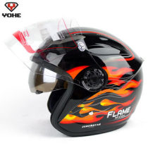 Motorcycle helmet Yohe / eternity M L XL 2XL White safflower white blue frosted black bright black blue bright black silver bright black safflower piano black and white pink Eight hundred and fifty-six autumn Helmets ABS 62cm and above Half covered