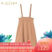 Dress Winter 2020 Camel S,M,L Middle-skirt singleton  Sleeveless commute Crew neck High waist Solid color Princess Dress routine 25-29 years old Ailian lady 184275A174 81% (inclusive) - 90% (inclusive) polyester fiber