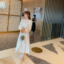 Dress Spring 2021 Off white, black Average size Mid length dress street A-line skirt 51% (inclusive) - 70% (inclusive) other