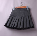 skirt Winter 2020 S (for 1-7-1-9 waist), m (for 2-2-1 waist), l (for 2-2-3 waist), XL (for 2-3-2-4 waist), XXL (for 2-4-2-5 waist) Black (all season cotton), black (woolen autumn and winter), dark gray (woolen autumn and winter) Short skirt Versatile High waist A-line skirt Solid color Type A brocade