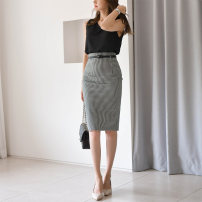 skirt Spring 2021 S M L XL Mid length dress Versatile High waist skirt lattice Type A 30-34 years old More than 95% Silk is true other zipper Other 100% Pure e-commerce (online only)