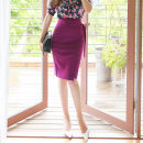skirt Spring 2021 S M L XL violet Middle-skirt commute High waist skirt Solid color 30-34 years old More than 95% Silk is true other Korean version Other 100% Pure e-commerce (online only)