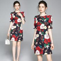 Dress Autumn of 2019 Decor S,M,L,XL,2XL 6579#