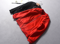 short coat Winter of 2018 S,M,L Red [18-10-04d], black [18-10-04d] Long sleeves routine routine singleton  Straight cylinder street routine stand collar zipper letter Other / other 51% (inclusive) - 70% (inclusive) Embroidery, pocket, thread, zipper wool wool