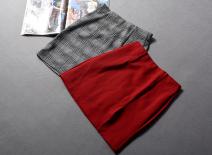 skirt Spring 2021 Xs, s, m, l, XL Gray thousand bird grid [21-3-04d], red [21-3-04d] Short skirt street High waist skirt Type A 30% and below knitting Other / other Viscose Europe and America
