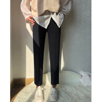 Women's large Spring of 2019 Gray, black M (recommendation 80-100), l (recommendation 100-120), XL (recommendation 120-140), 2XL (recommendation 140-160), 3XL (recommendation 160-180), 4XL (recommendation 180-200) trousers commute moderate Korean version 18-24 years old Ninth pants