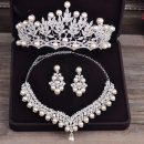 Necklace Alloy / silver / gold 51-100 yuan Huahong Single Crown Necklace + Earring (earpin) crown + Necklace + Earring (earpin) crown + Necklace + Earring (earclip) Necklace + Earring (earclip) brand new