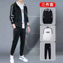 Sweater Youth fashion Others M,L,XL,3XL,XXL,4XL stripe Cardigan routine Hood autumn easy leisure time youth tide routine cz-D21- polyester fiber New polyester fiber 95% polyurethane elastic fiber (spandex) 5% polyester fiber Color matching No iron treatment Side seam pocket simple style  zipper