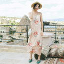 Dress Summer of 2018 Decor M, L longuette singleton  Sleeveless Sweet Crew neck High waist Decor Socket A-line skirt other Others Type A Maixu Chiffon polyester fiber Bohemia