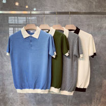 Polo shirt Other / other Fashion City thin M,L,XL,2XL,3XL Self cultivation Other leisure summer Short sleeve Exquisite Korean style routine youth 2019 other Cotton polyester washing
