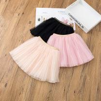 skirt 80cm,90cm,100cm,110cm,120cm,130cm,140cm Black, beige, pink Other / other female Other 100% spring and autumn skirt princess Solid color A-line skirt other