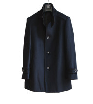 woolen coat black Others Fashion City Cashmere Medium length go to work Self cultivation Solid color