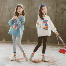 Sweater / sweater Other / other female 110cm,120cm,130cm,140cm,150cm,160cm,170cm spring and autumn nothing Korean version Socket routine There are models in the real shooting cotton Cartoon animation Cotton 95% polyurethane elastic fiber (spandex) 5% Class B Cotton liner