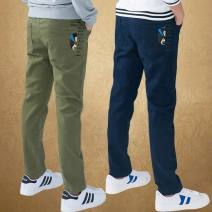 trousers Dream Bonnie male 120cm,130cm,140cm,150cm,160cm,170cm spring and autumn trousers leisure time There are models in the real shooting Casual pants Leather belt middle-waisted cotton Don't open the crotch Cotton 98.5% polyurethane elastic fiber (spandex) 1.5% Class B Chinese Mainland