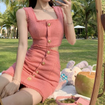 Fashion suit Summer 2021 S, M Top piece, skirt piece 18-25 years old 30% and below