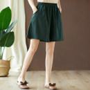 Casual pants Black, khaki, hemp, dark green M [95-120 Jin], l [120-140 Jin], XL [140-160 Jin], 2XL [160-200 Jin] Summer 2020 Pant Wide leg pants High waist commute Thin money 51% (inclusive) - 70% (inclusive) hemp Korean version pocket hemp