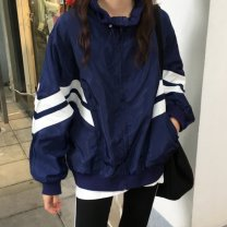 short coat Spring of 2019 S,M,L Dark blue, purple Long sleeves singleton  easy commute stand collar zipper 18-24 years old Other / other zipper
