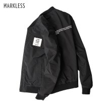 Jacket Markless Fashion City routine standard go to work autumn Polyester 100% Long sleeves Wear out Baseball collar Simplicity in Europe and America youth routine Zipper placket Rib hem washing Closing sleeve other polyester fiber Autumn 2016 Cloth decoration (covering other fabrics) polyester fiber
