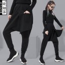 Casual pants black M,L,XL,2XL Spring 2021 Ninth pants Haren pants Natural waist street routine 25-29 years old 51% (inclusive) - 70% (inclusive) Three dimensional cutting cotton Europe and America Asymmetry