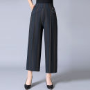Middle aged and old women's wear Summer 2020 1, 2, 3, 4, 5, 6 2XL (90-130 kg recommended), 3XL (130-160 kg recommended) fashion trousers easy singleton  thin Ninth pants