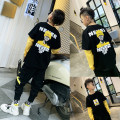 T-shirt Black, black plush Chen Haoting 100, 110, 120, 130, 140, 150, 160, 170 male spring and autumn Long sleeves leisure time There are models in the real shooting HT774 Four, five, six, seven, eight, nine, ten, eleven, twelve, thirteen, fourteen Chinese Mainland