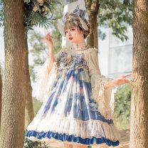Dress Autumn of 2019 blue S,M,L,XL