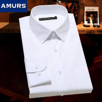 shirt Business gentleman AmUrs / aimus 39B 40B 41B 42B 43B 44B white routine square neck Long sleeves easy go to work autumn AZ1770RS45 middle age Cotton 100% Business Formal  2018 Solid color Color woven fabric Autumn of 2018 cotton other Same model in shopping mall (sold online and offline)