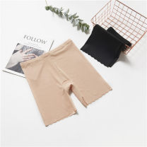 Women's large Summer 2021 Black, complexion trousers singleton  commute Self cultivation thin Solid color Korean version modal  Three dimensional cutting 18-24 years old wave 81% (inclusive) - 90% (inclusive) shorts