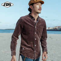 shirt Youth fashion Gladiator (costume) 165/84A/S 170/88A/M 175/92A/L 180/96A/XL 185/100A/XXL routine Pointed collar (regular) Long sleeves standard go to work Four seasons youth Japanese Retro 2021 Solid color Spring 2021 other cotton other Pure e-commerce (online only)