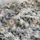 Fabric / fabric / handmade DIY fabric cotton Rice bottom embroidered cloth Daisy half meter, black bottom embroidered cloth Daisy half meter Plants and flowers Countryside Cuckoo handicraft 71% (inclusive) - 80% (inclusive)