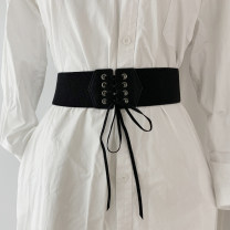 Belt / belt / chain other black female belt Versatile Single loop soft surface 6cm Tightness Aifanpin 56cm,63cm,70cm,80cm