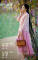 skirt Summer 2020 XS,S,M,L Light pink, dark green Mid length dress Natural waist Type A 81% (inclusive) - 90% (inclusive) Kapok Road cotton