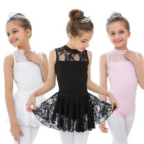 Children's performance clothes White, black, pink female 100cm, 110, 120, 130, 140, 150, 160 Silkily Class B Ballet Cotton 93% polyurethane elastic fiber (spandex) 7% Pure cotton (100% content) 2, 3, 4, 5, 6, 7, 8, 9, 10, 11, 12, 13, 14 years old Europe and America
