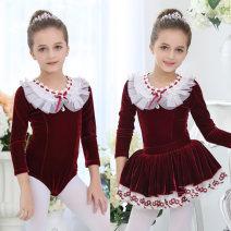 Children's performance clothes female 100, 110, 120, 130, 140, 150, 160, 170 Silkily Class B Ballet Polyethylene terephthalate (PET) 92% polyurethane elastic fiber (spandex) 8% other Three, four, five, six, seven, eight, nine, ten, eleven college