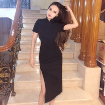 Dress Spring 2021 black S,M,L commute 18-24 years old Other / other Korean version 91% (inclusive) - 95% (inclusive) polyester fiber