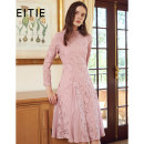 Dress Autumn of 2019 Soft purple 68 155/36/S 160/38/M 165/40/L 170/42/XL 175/44/XXL Mid length dress singleton  Nine point sleeve stand collar High waist zipper A-line skirt routine 30-34 years old Type X Eitie / aitie Embroidered zipper lace D1907331 51% (inclusive) - 70% (inclusive) polyester fiber