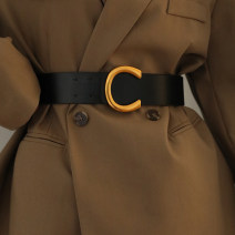 Belt / belt / chain Pu (artificial leather) Black, brown female Waistband grace Single loop Youth, youth alloy unclecm