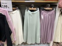 skirt Spring 2020 S,M,L White, light purple, light green, Navy, deep beige