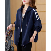 short coat Spring 2021 M, L Black, Navy Long sleeves routine routine singleton  easy commute raglan sleeve Hood zipper Solid color 35-39 years old Clothing music 96% and above Pocket, zipper cotton cotton
